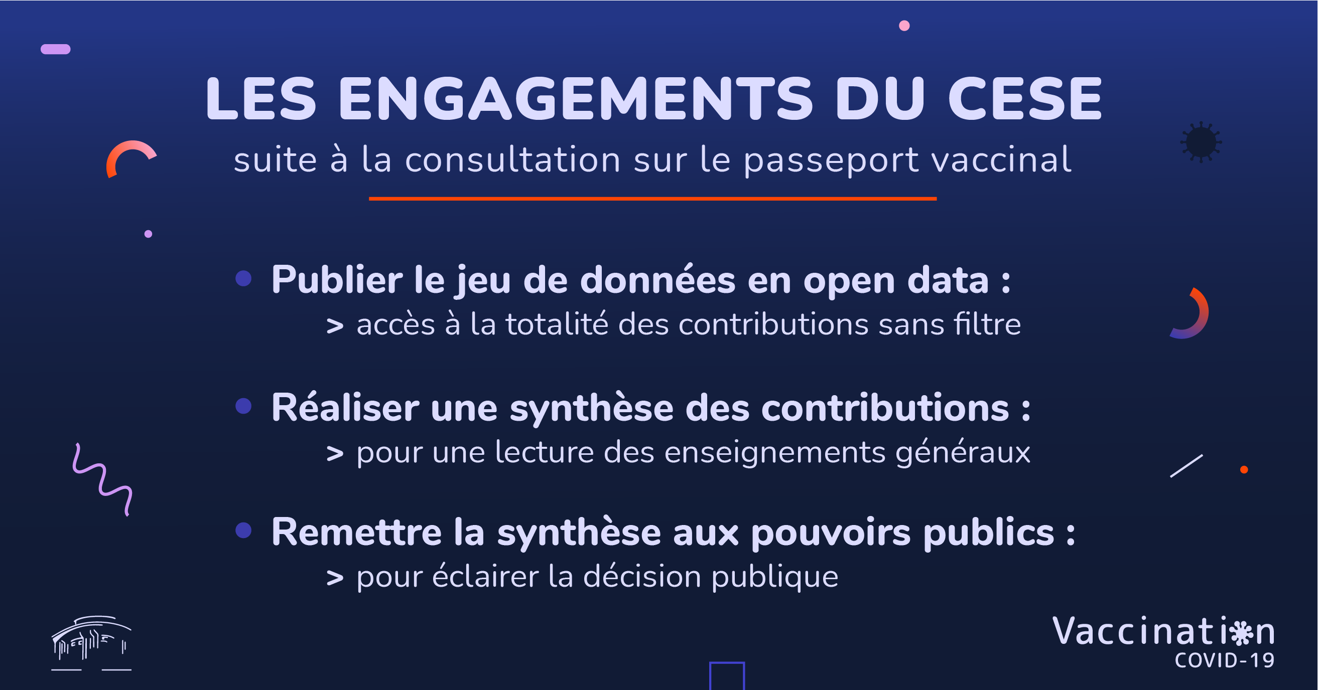 Les engagements du CESE suite à la consultation